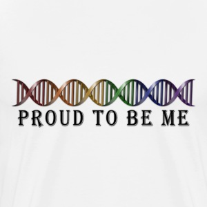 LGBT Pride Rainbow DNA - Men's Premium T-Shirt