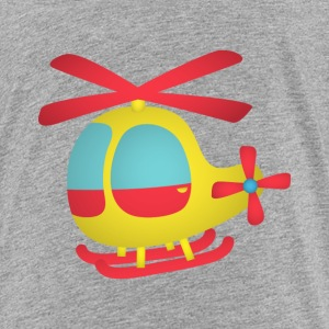 red and yellow cute helicopter for kids Kids' Shirts - Kids' Premium T-Shirt