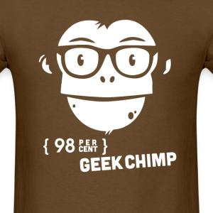 98 percent geek chimp T-Shirts - Men's T-Shirt