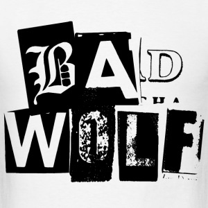 Doctor Who T-Shirts: Bad Wolf Typography Tee T-Shirts - Men's T-Shirt
