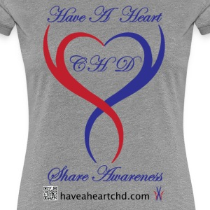 Womens Have A Heart CHD Premium Tee - Women's Premium T-Shirt