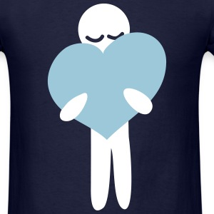 Heart Hug T-Shirts - Men's T-Shirt