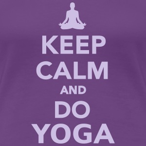Keep calm and do Yoga Women's T-Shirts - Women's Premium T-Shirt