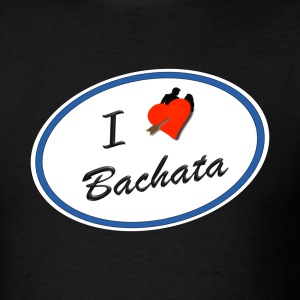 I Love Bachata in Blue for Market - Men's T-Shirt