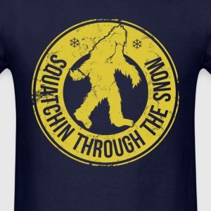 squatchin_through_the_snow T-Shirts - Men's T-Shirt