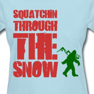 squatchin_through_the_snow Women's T-Shirts - Women's T-Shirt