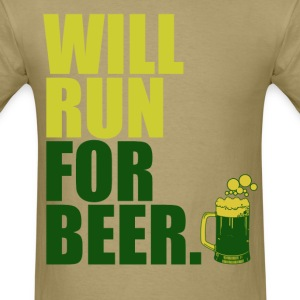 will_run_for_beer T-Shirts - Men's T-Shirt