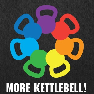 kettlebell rainbow For weight lifting - Tote Bag