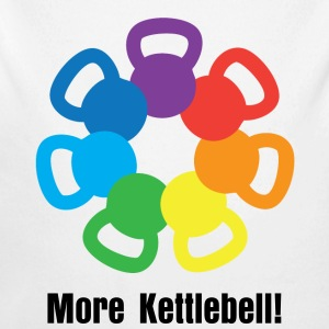 kettlebell rainbow For weight lifting - Long Sleeve Baby Bodysuit