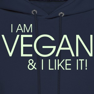 I am vegan and I like it Hoodies - Men's Hoodie