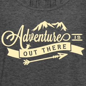 """Adventure is Out There"" Flowy Yoga Bella Tank - Women's Flowy Tank Top by Bella"