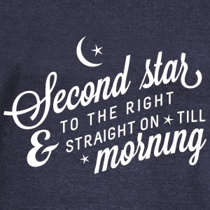 second star to the right Long Sleeve Shirts - Women's Wideneck Sweatshirt