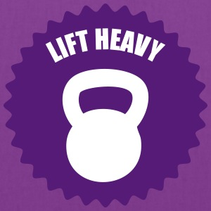 kettlebell lift heavy emblem Bags & backpacks - Tote Bag