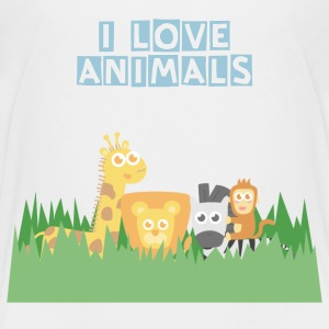 cute safari animals for kids Kids' Shirts - Kids' Premium T-Shirt