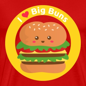 I love big buns, cute cheese burger T-Shirts - Men's Premium T-Shirt