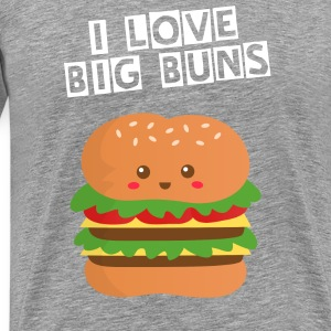 cute and big cheese burger T-Shirts - Men's Premium T-Shirt