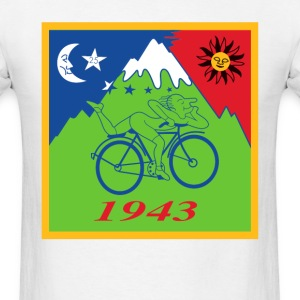 Hofmann's Bike ride LSD Blotter Art Psychedelic Te - Men's T-Shirt