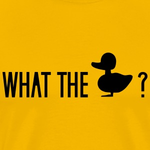 what the duck wtf fuck ducklings T-Shirts - Men's Premium T-Shirt