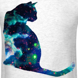 Blue Space Cat - Men's T-Shirt