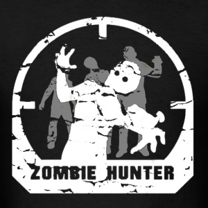 Men's Black Zombie Hunter Shirt - Men's T-Shirt
