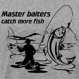 Master baiters catch more fish T-Shirts - Men's Premium T-Shirt
