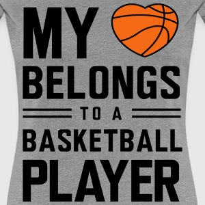 My heart belongs to a basketball player Women's T-Shirts - Women's Premium T-Shirt