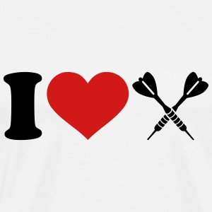 I love Darts T-Shirts - Men's Premium T-Shirt