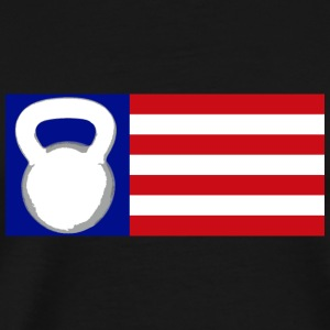 Kettlebell Flag - Men's Premium T-Shirt