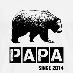 Papa T-Shirt - Grunge papa bear in black for dad T-Shirts - Men's Premium T-Shirt
