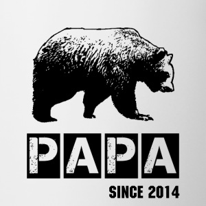 grunge papa bear in black for dad Bottles & Mugs - Coffee/Tea Mug