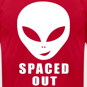 Alien Spaced Out T-Shirts - Men's T-Shirt by American Apparel