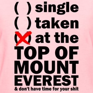 at the top of mount everest Women's T-Shirts - Women's T-Shirt