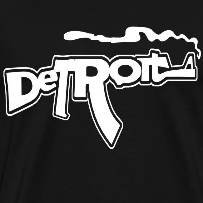 Robotface T Shirts Funny Detroit Smoking Gun Ak Version Mens