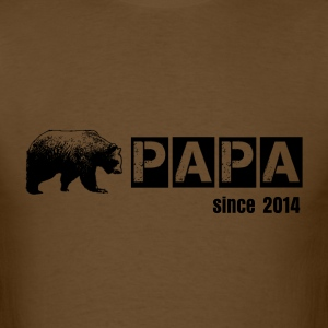 papa bear in black, grunge, for daddy T-Shirts - Men's T-Shirt