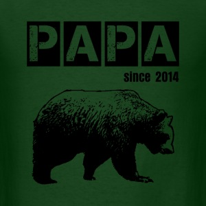 grunge papa bear, black for dad T-Shirts - Men's T-Shirt