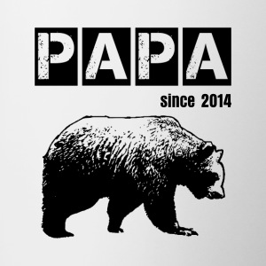 grunge papa bear, black for dad Accessories - Contrast Coffee Mug