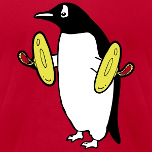Penguin with Cymbal T-Shirts - Men's T-Shirt by American Apparel