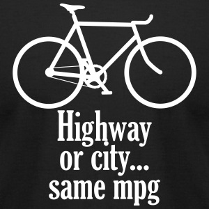Highway or city black - Men's T-Shirt by American Apparel
