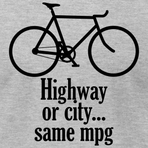 Highway or City - Men's T-Shirt by American Apparel