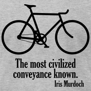 Iris Murdoch cycling quote - Men's T-Shirt by American Apparel