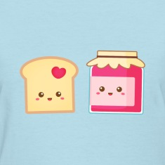 cute strawberry jam and toast, spread the love Women's T-Shirts