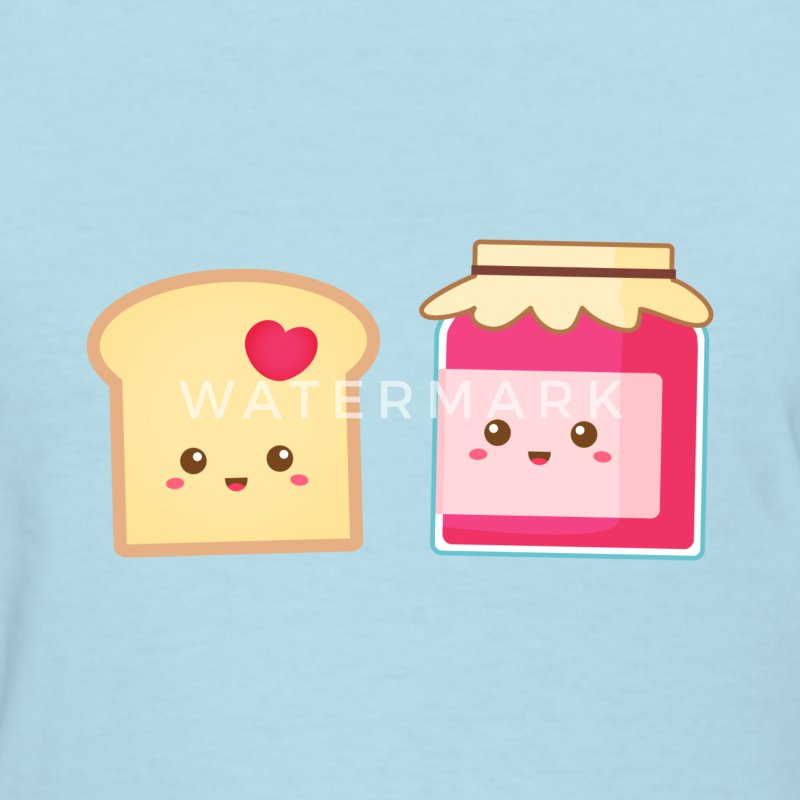 cute strawberry jam and toast, spread the love Women's T-Shirts - Women's T-Shirt