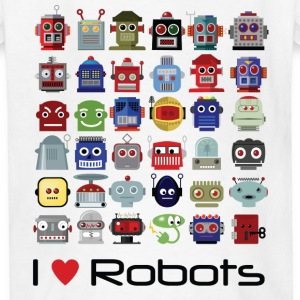 I love robots t-shirt - Kids' T-Shirt