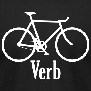Verb black - Men's T-Shirt by American Apparel