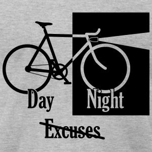 night day no excuses grey - Men's T-Shirt by American Apparel