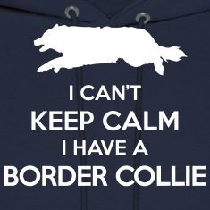 I Can't Keep Calm Border Collie Hoodie