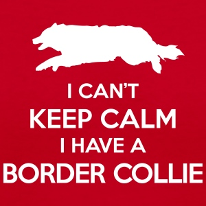 I Can't Keep Calm Border Collie Women's Shirt - Women's V-Neck T-Shirt