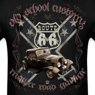 Design ~ oldschool customs Route 66 road hot rod rod