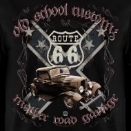 Design ~ oldschool customs Route 66 road hot rod rod