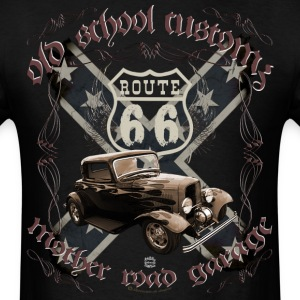 oldschool customs Route 66 road hot rod rod T-Shirts - Men's T-Shirt